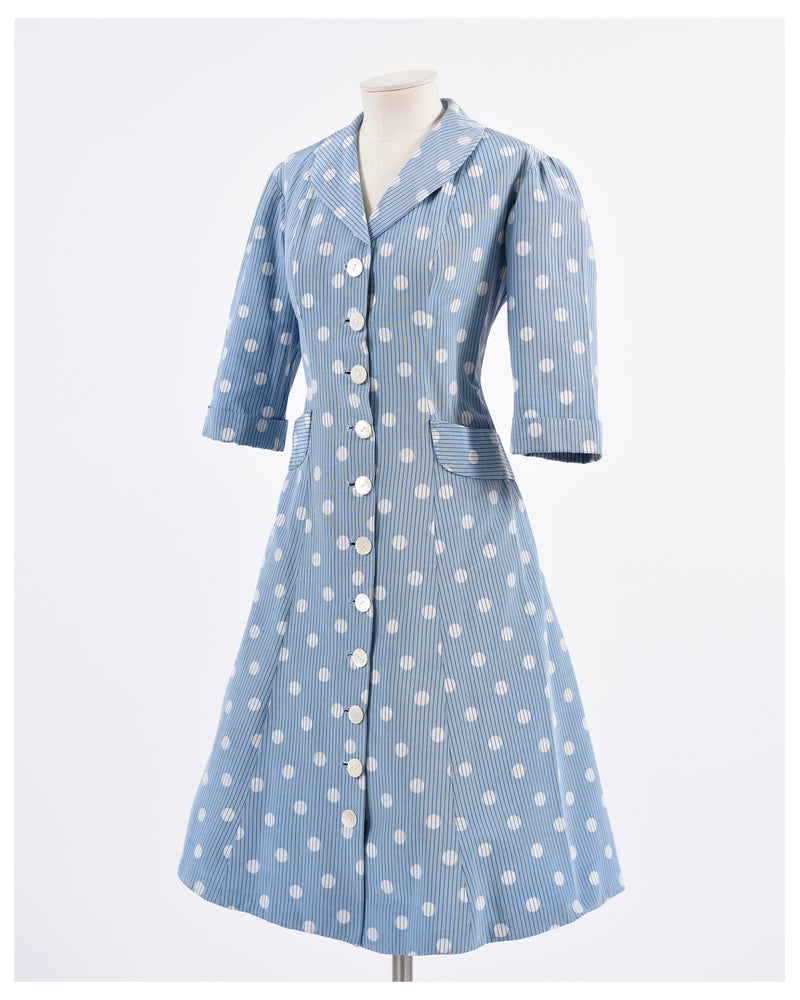 1950s Polka Dots Princess Dress-Cavalli e Nastri