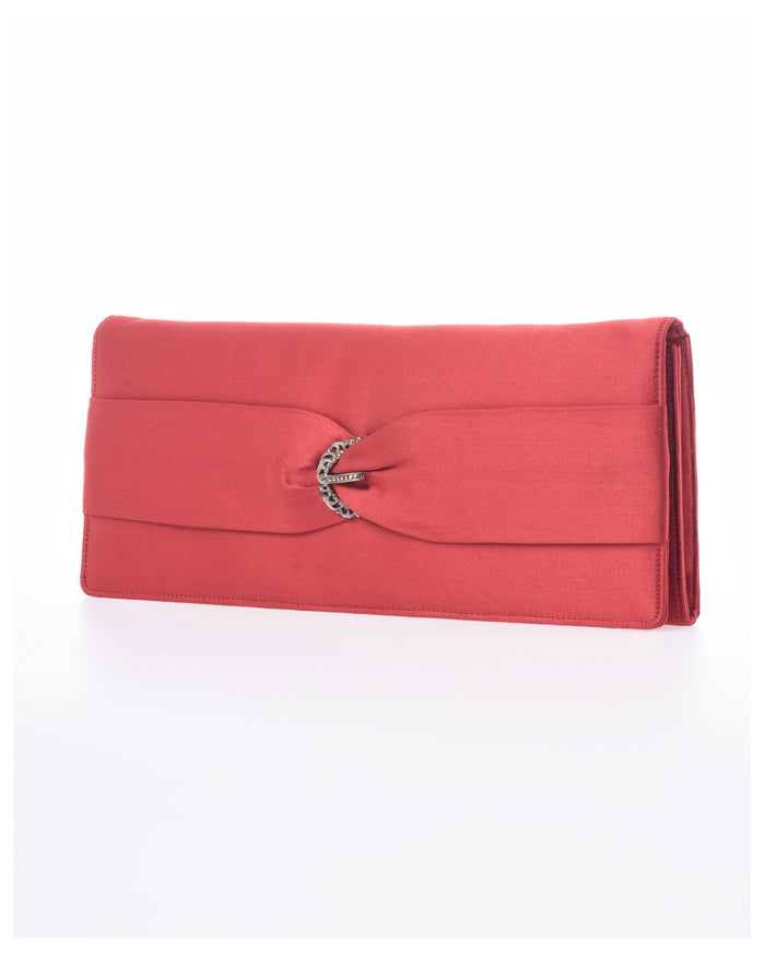 1960s Silk Evening Clutch Purse