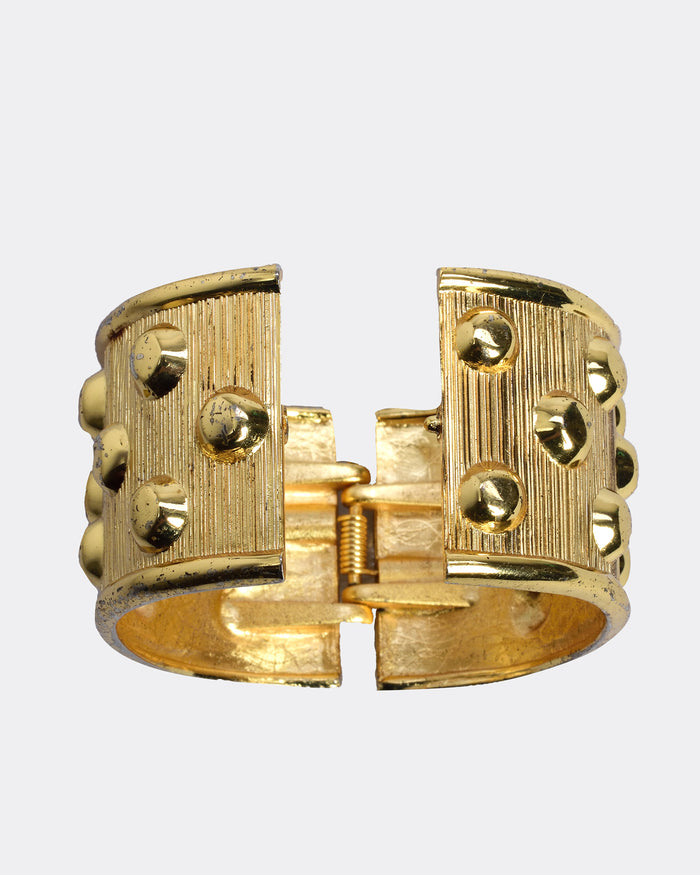 Ugo Correani 1980s Gold Color Metallic Bracelet