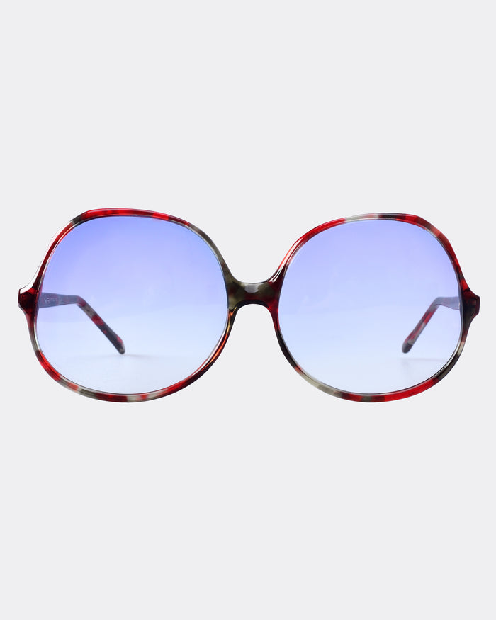 JET SET Red Round Sunglasses