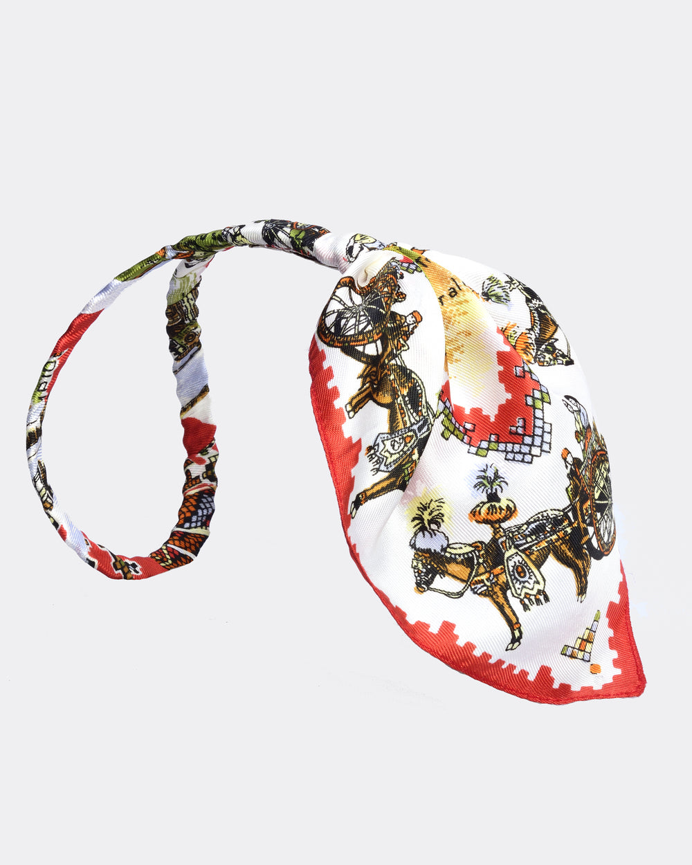 MISS GUMMO Red Foulard Headpiece
