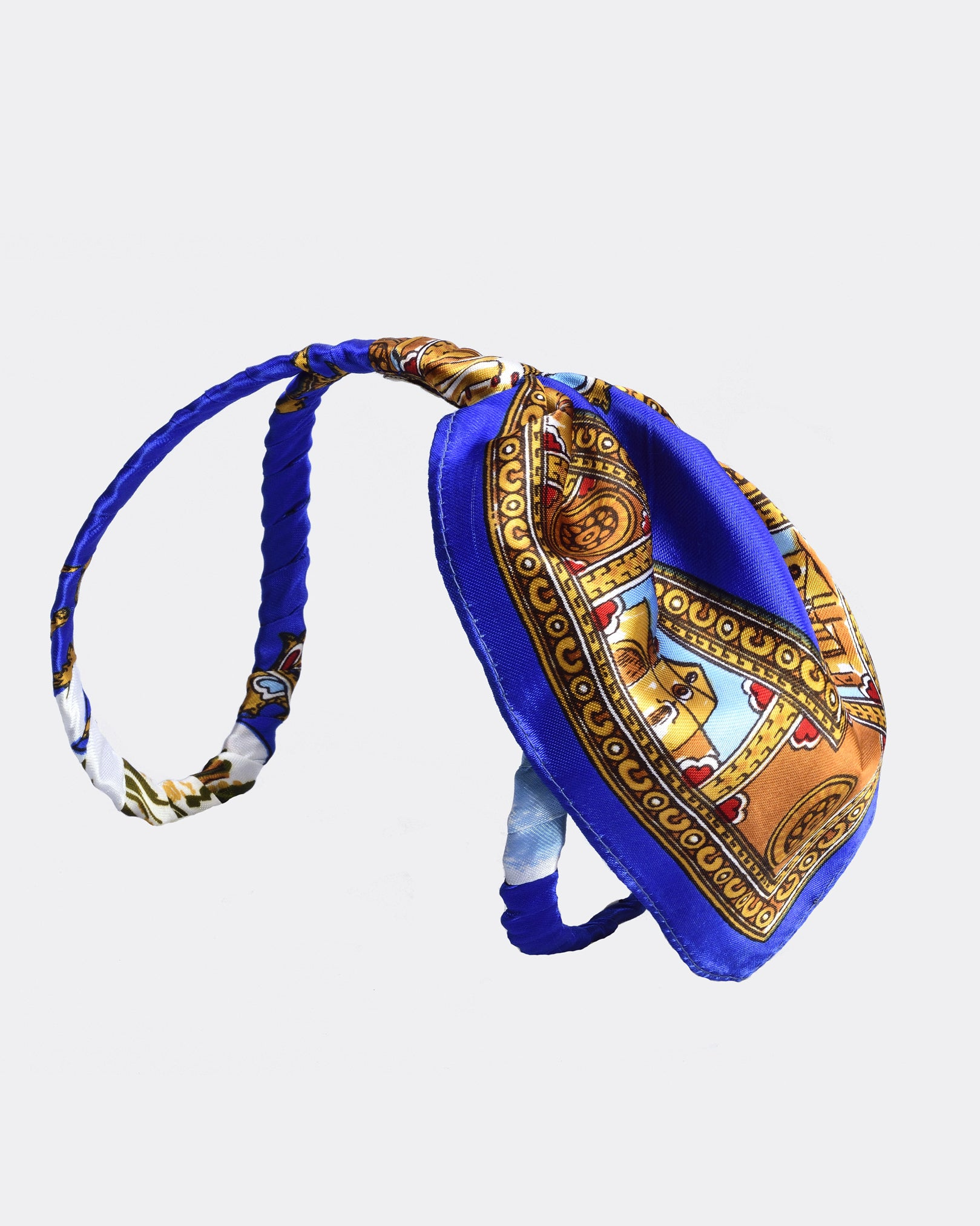 MISS GUMMO Blue Foulard Headpiece
