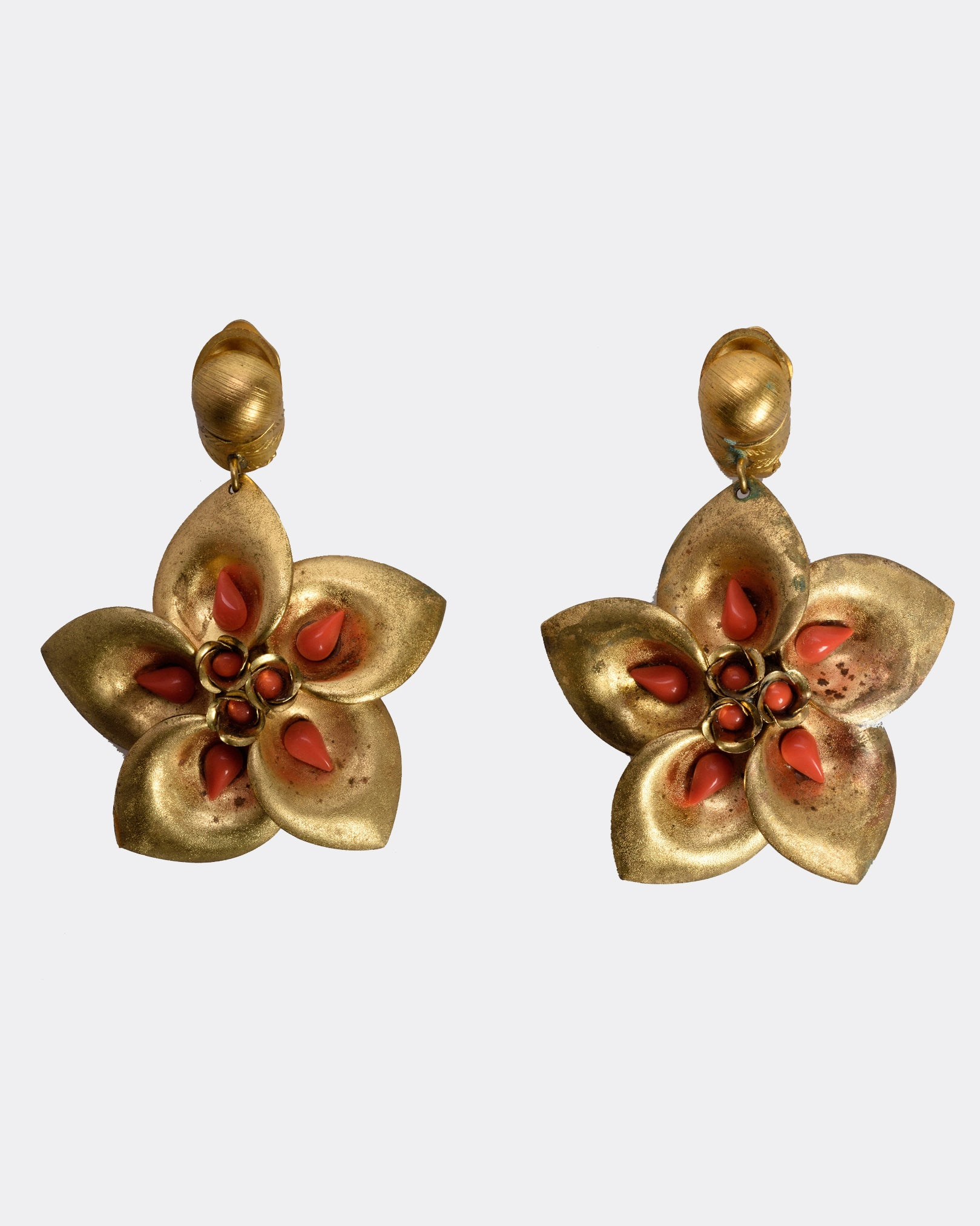 Flowers Clip-On Earrings