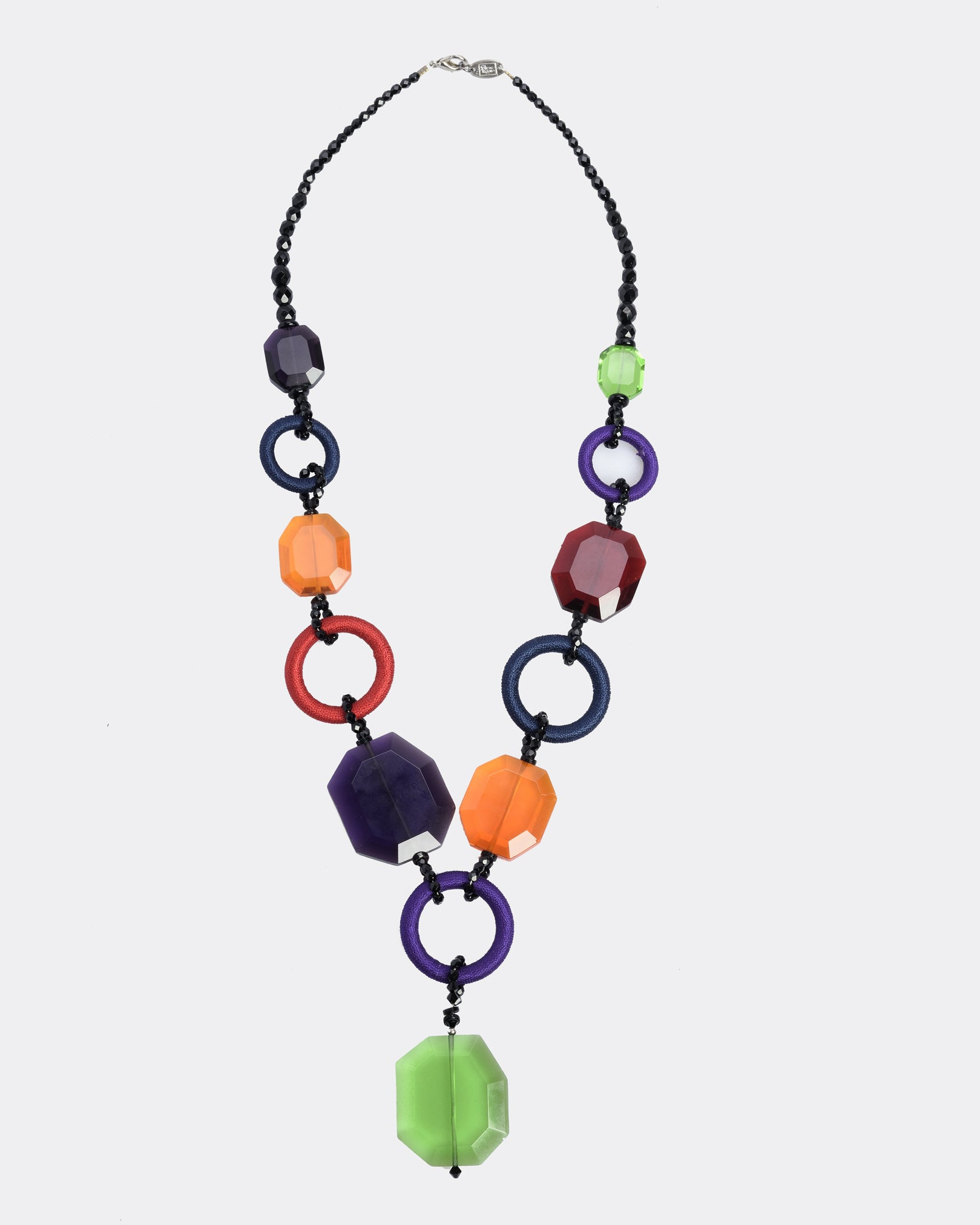 SHARRA PAGANO Multicolor Geometric Necklace