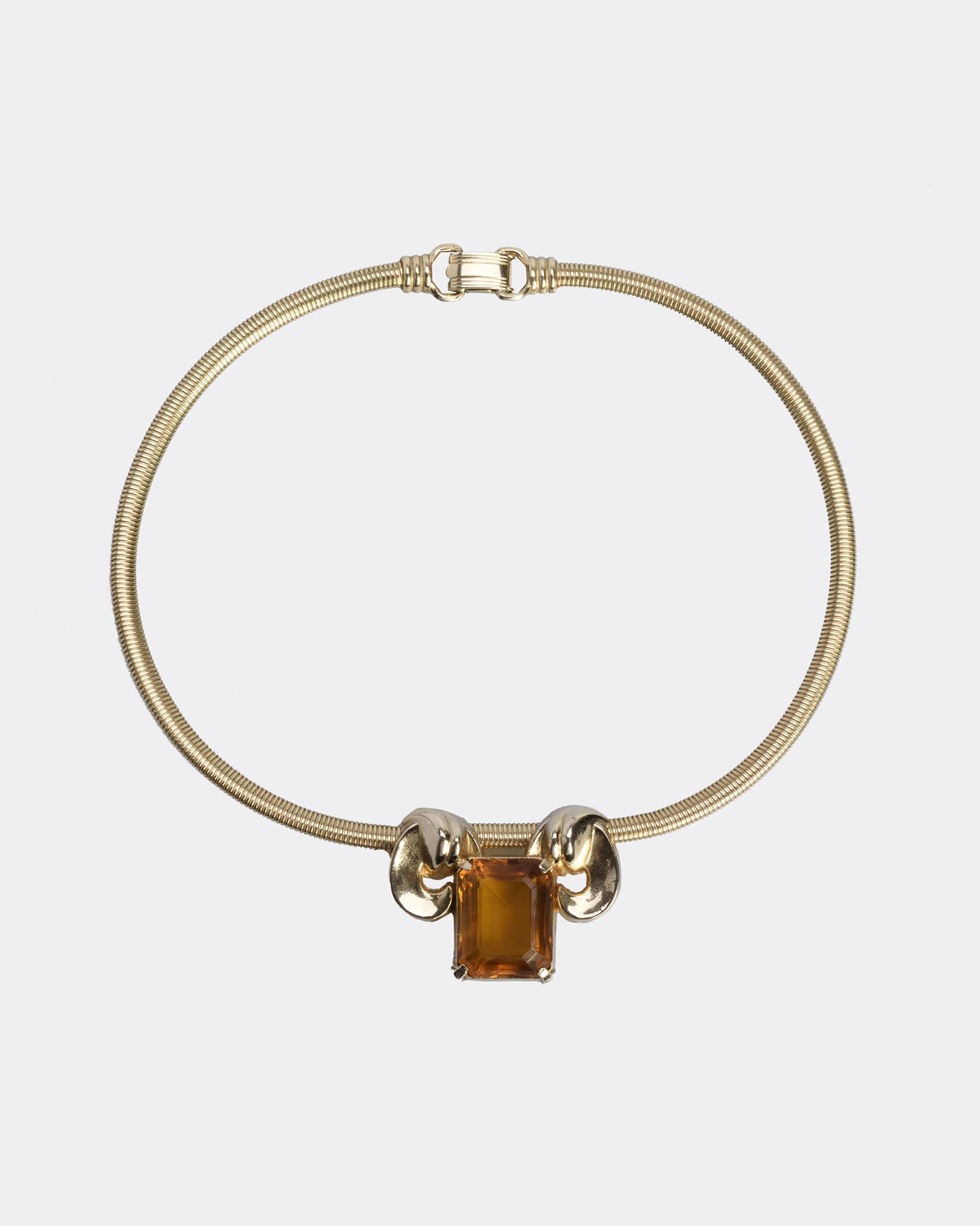 CORO BIJOUX Des Pat Pend Gold Aries Choker Necklace