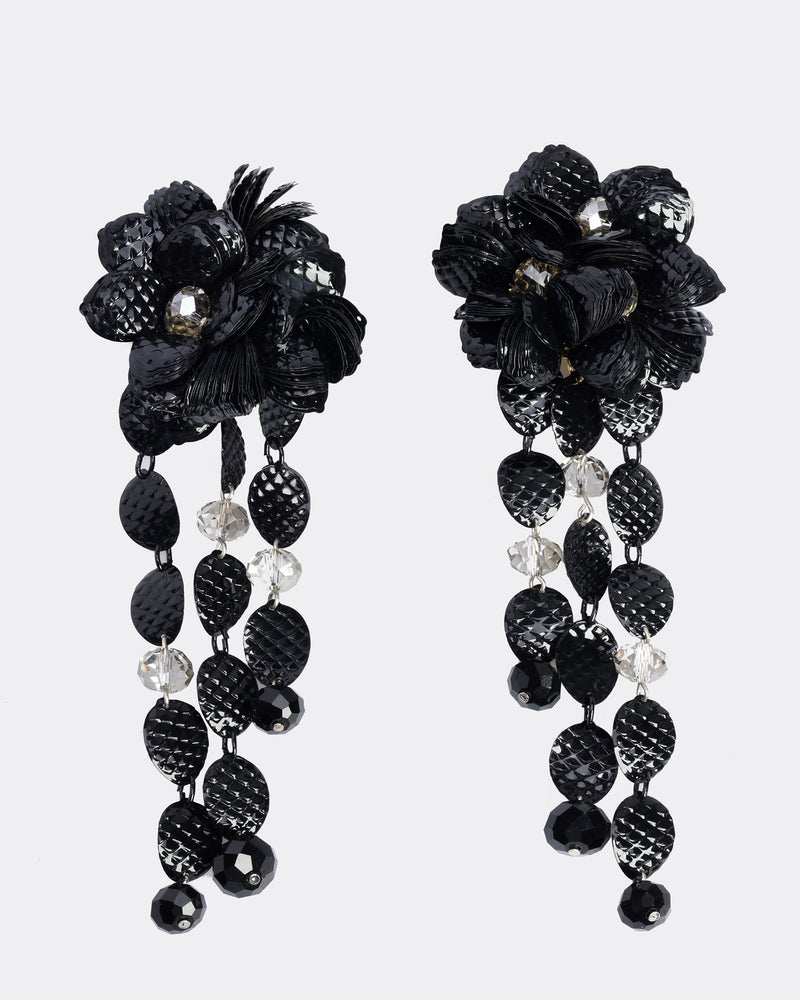 ORNELLA BIJOUX Sequins and Faceted Beads Earrings
