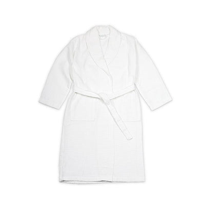 Organic Cotton Waffle Bathrobe Dressing Gown