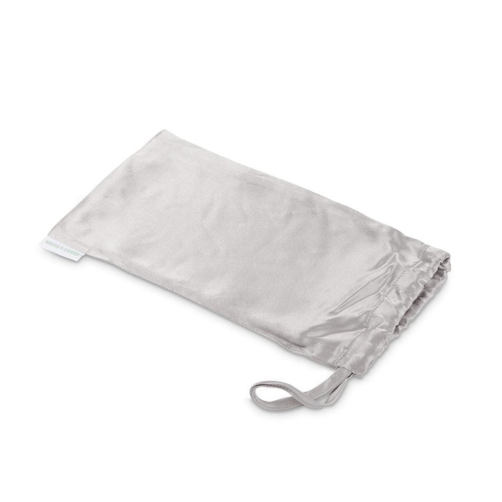 Grey Silk Travel Pouch