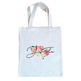 Floral Tote Bag (White)