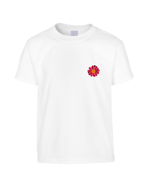Red Daisy Chest T-Shirt