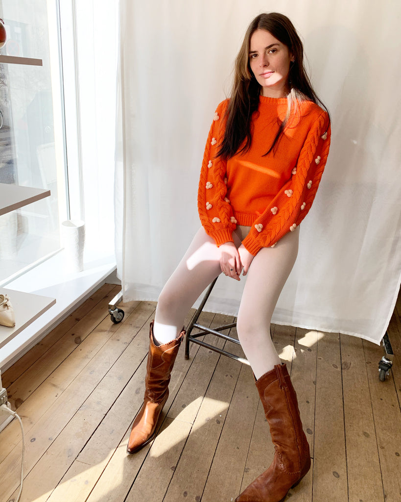 Shrimps orange knitwear