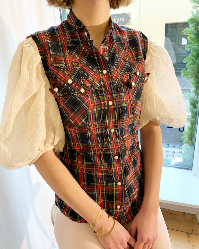 Dolce & Gabbana checkered vest shirt