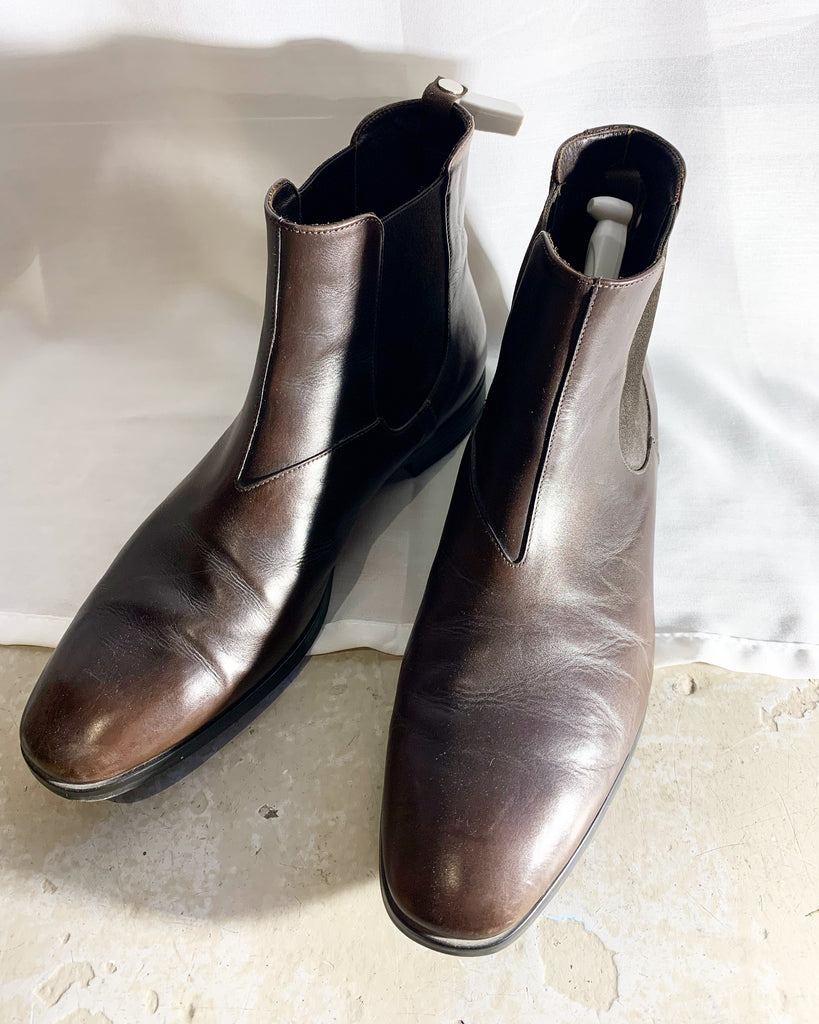 Prada leather boots shoes