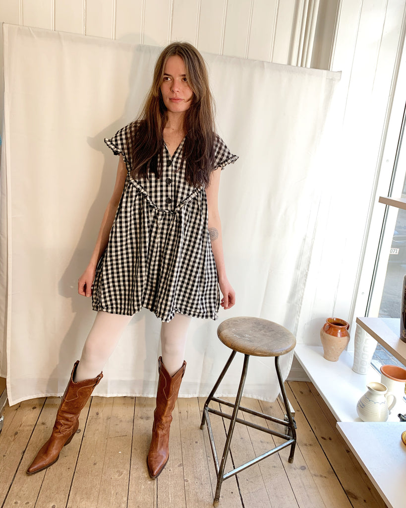 Zara checkered jumpsuit dress