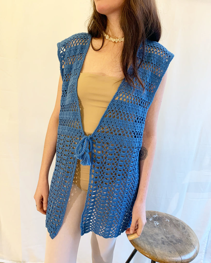 Vintage knitted vest shirt