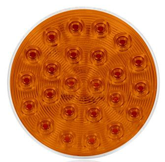 "4"" ROUND AMBER LED WARNING LIGHT (M42701Y)"