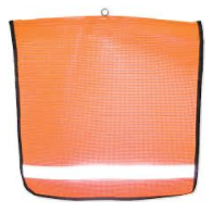 "REFLECTIVE STRIPE SAFETY FLAGS- 18""x18"""
