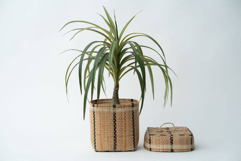 Bidayuh Lidded Storage Basket | Mix