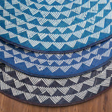 Triangle Mat | 4' Round | Midnight Blue Base