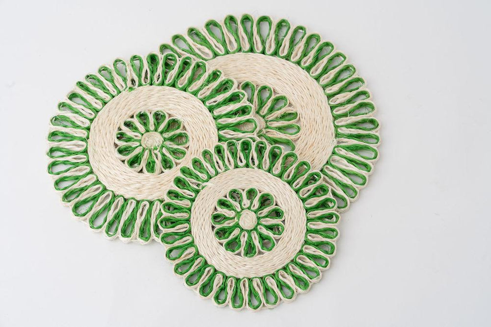 Handwoven Placemat Set | Green