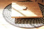 Aqua Triangle Mat | 4' Round | Natural base
