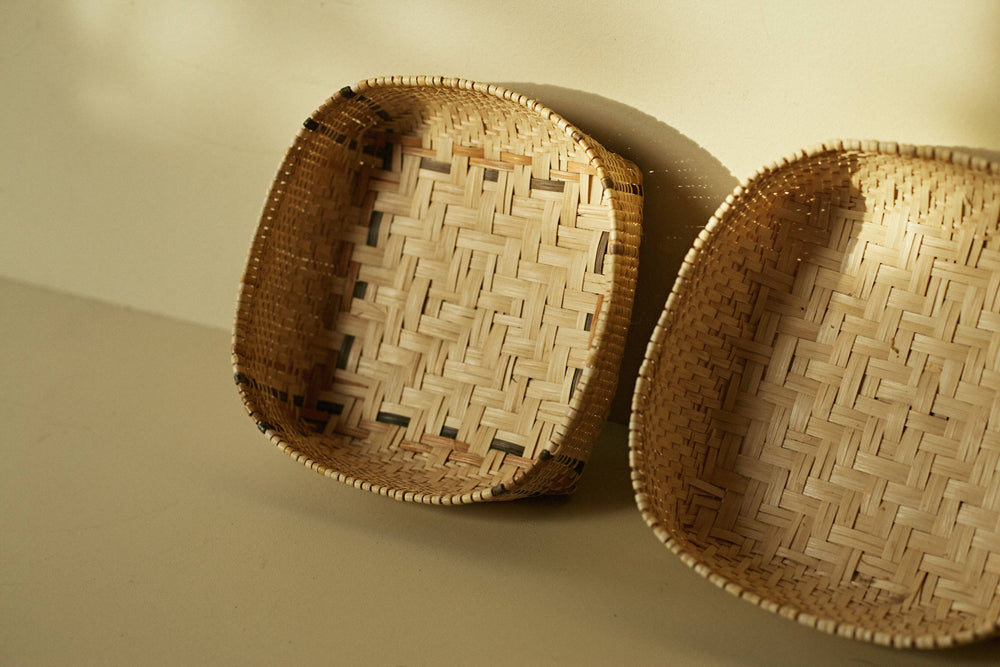 Bidayuh Square All Natural Tray  + Woven Placemats