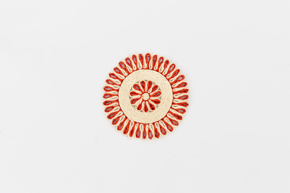 Handwoven Placemat Set | Red