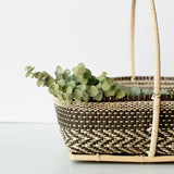 Bidayuh Basket with Handle | Charcoal