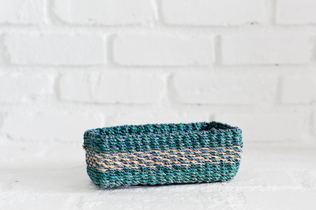 All Purpose Storage Tray | Green + Blue + Natural 1