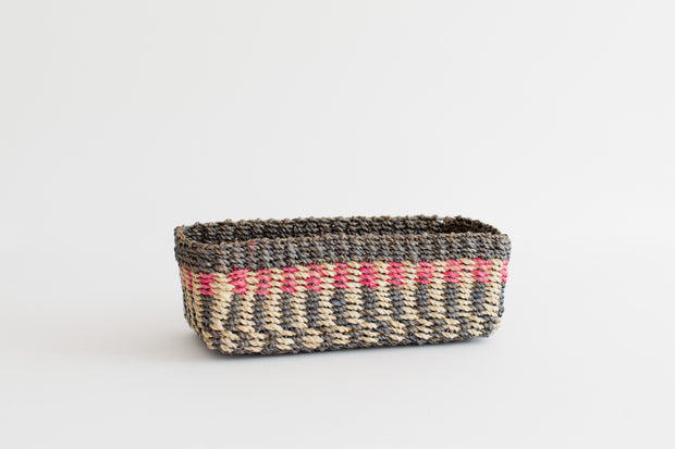 All Purpose Storage Tray | Blue + Pink + Natural 1