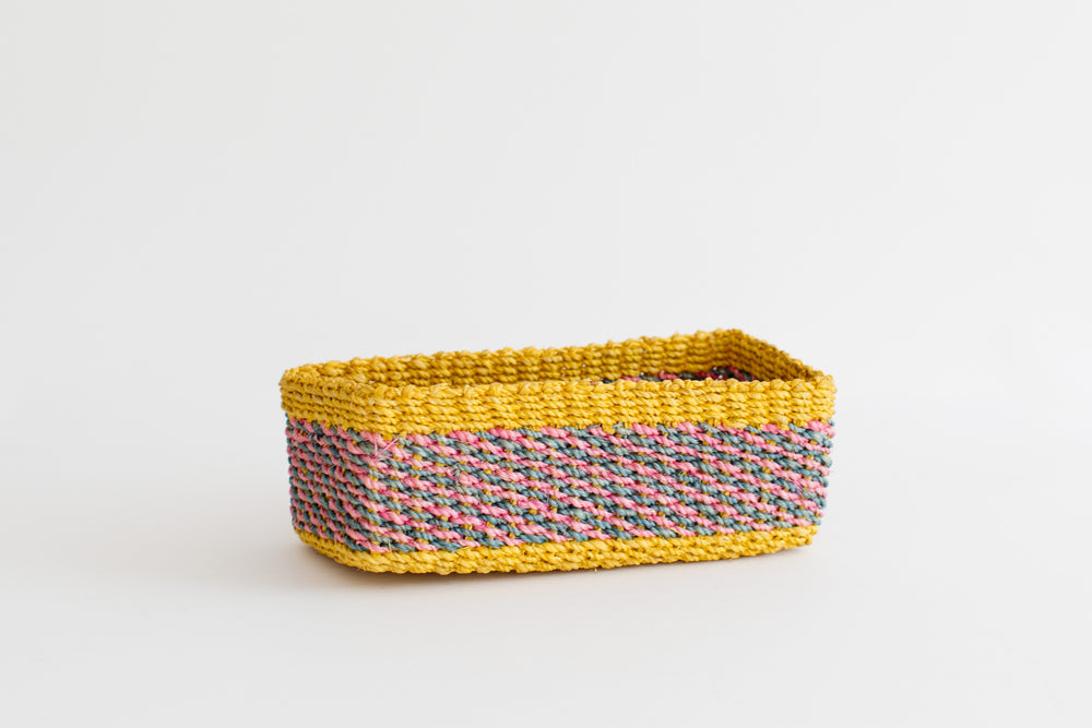 All Purpose Storage Tray | Yellow + Pink | Blue