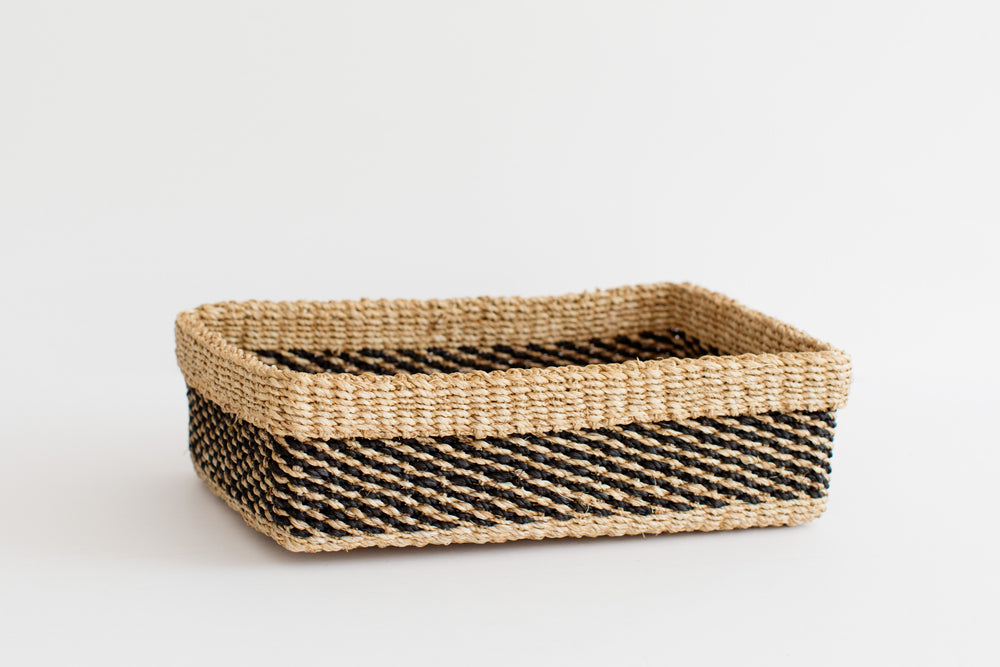 Maxi All Purpose Storage Tray | Stripe Noir