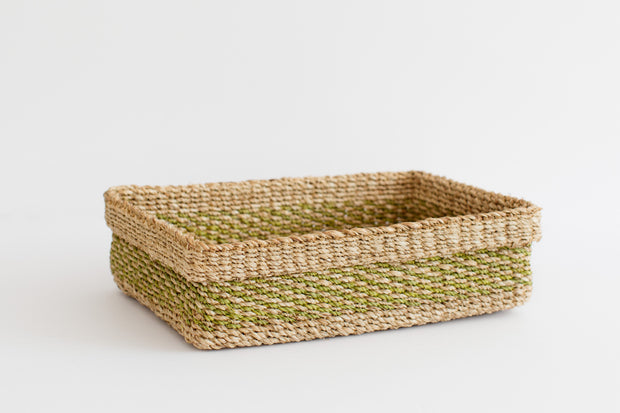 Maxi All Purpose Storage Tray | Lime Green + Natural 1
