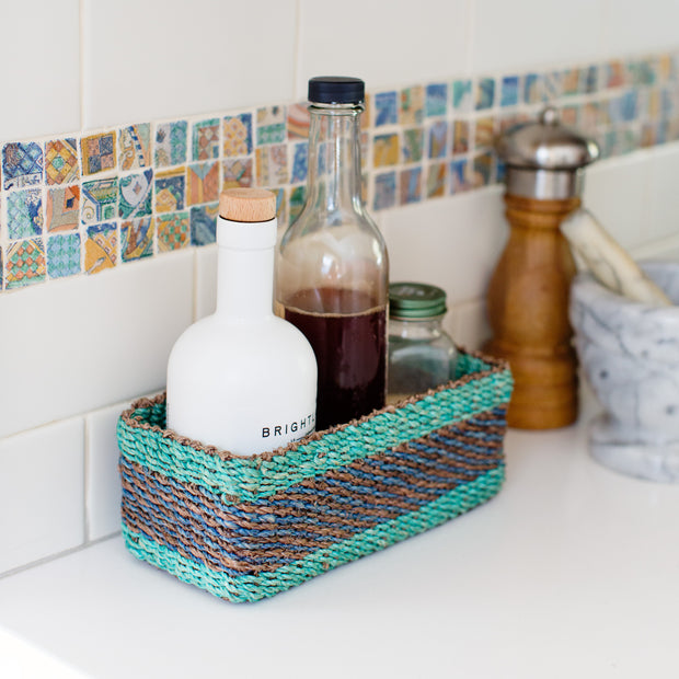 All Purpose Storage Tray | Blue + Green + Teal 1