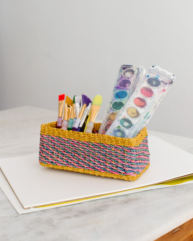 All Purpose Storage Tray | Yellow + Pink | Blue 1