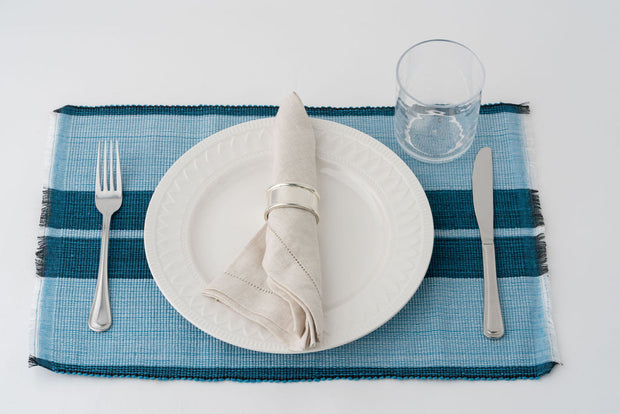 Inabel Placemat | Ocean Blue 1