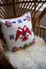 Brocade Weave Pillow Cover | Two Headed Bird