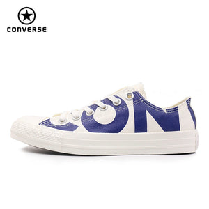 bdebc41c139 Converse 2018 new spring autumn Big letters sneakers man and women Unisex  blue color Skateboarding Shoes