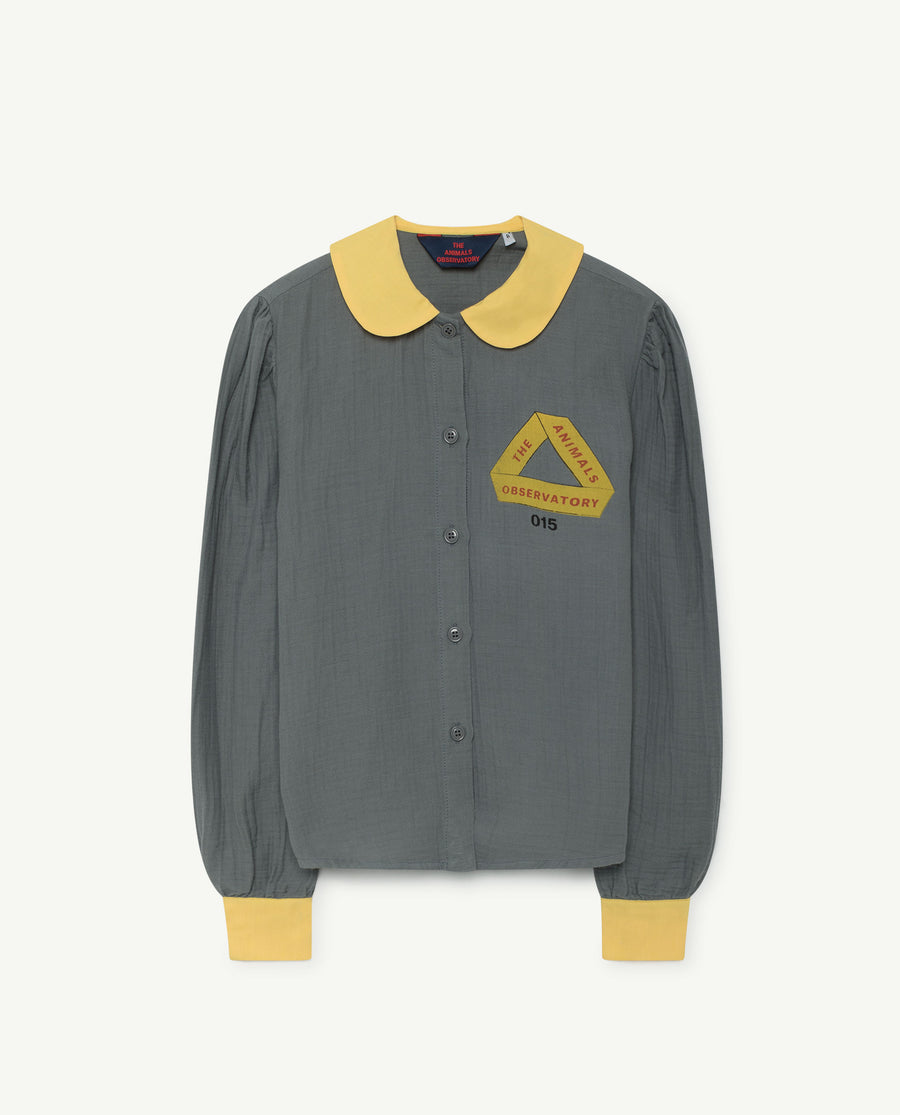 KANGAROO KIDS SHIRT GREY TRIANGLE