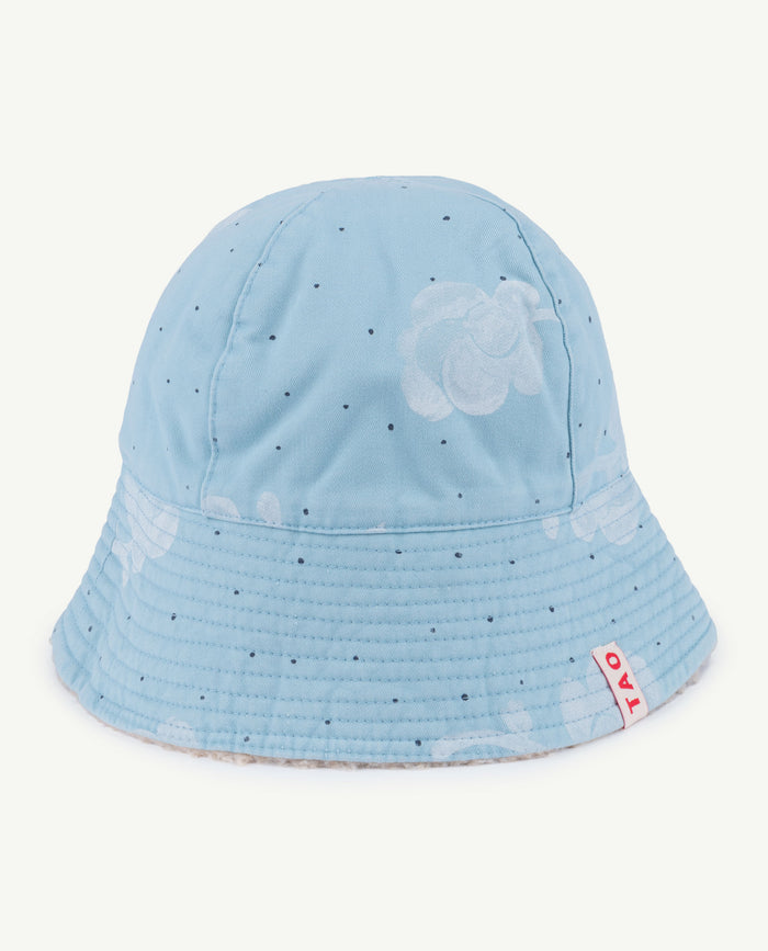 STARFISH KIDS HAT BLUE FLOWERS