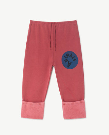 Magpie Kids Pants Red Animals