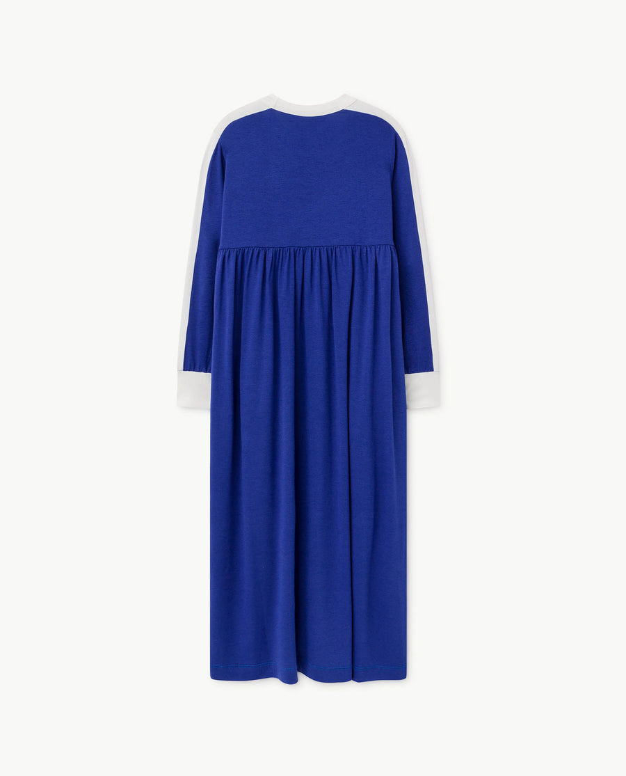 Cockatoo Kids Dress Deep Blue Shield