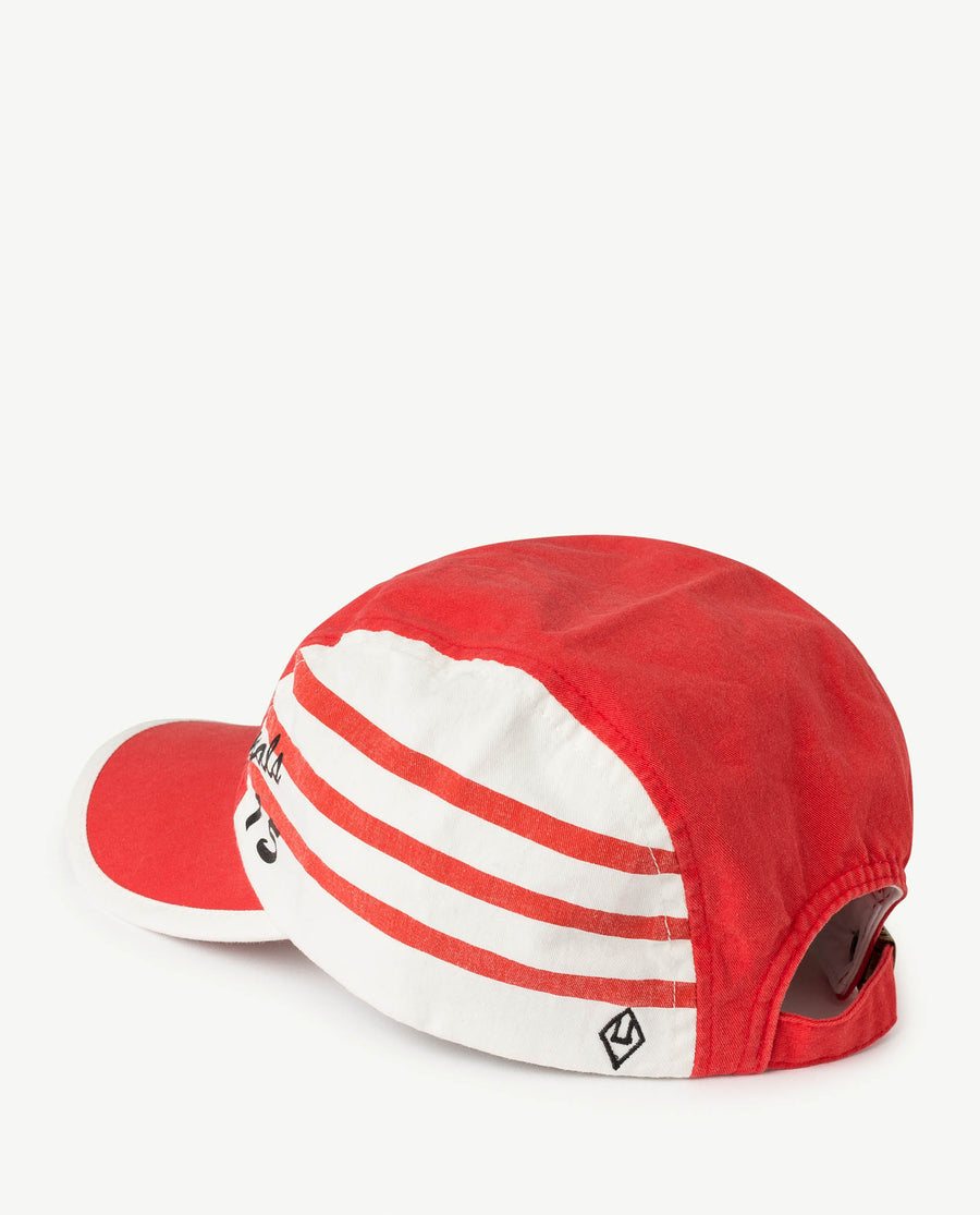Stripes Hamster Kids Cap Red Apple Los Animal Os