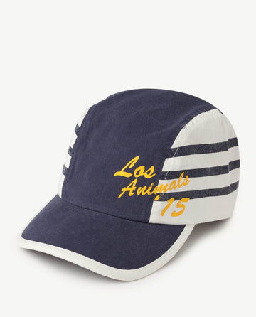 Stripes Hamster Kids Cap Blue Los Animals Os