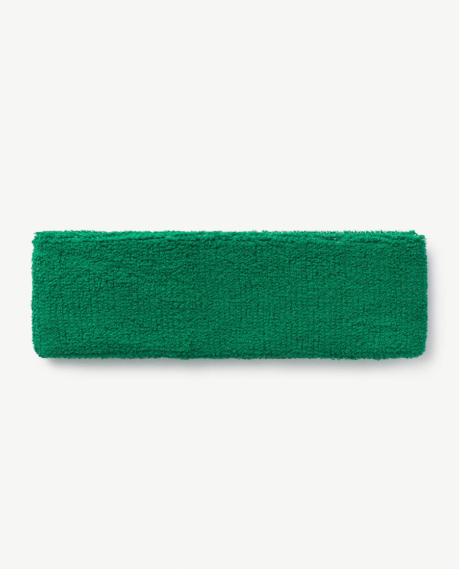 Kids Headband Green Embrodiery Os