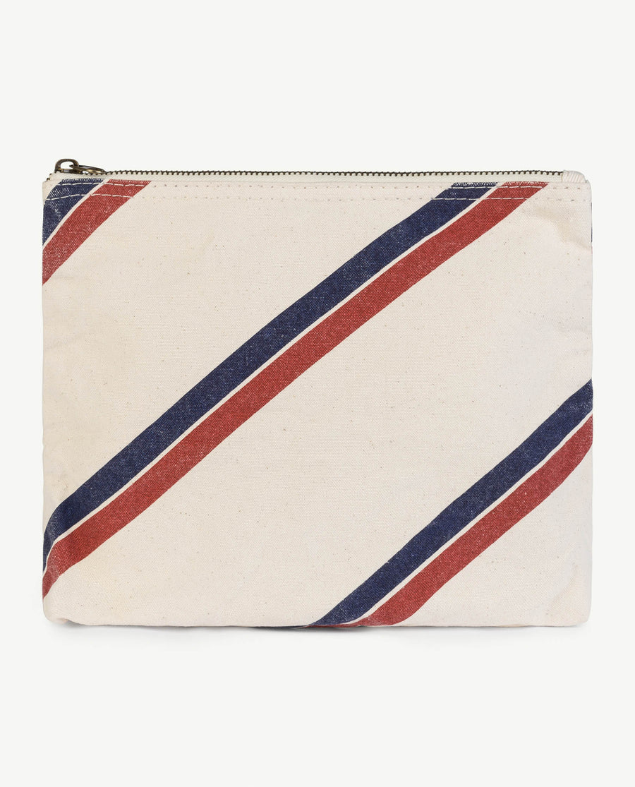 Onesize Pouch Raw White Stripes Os