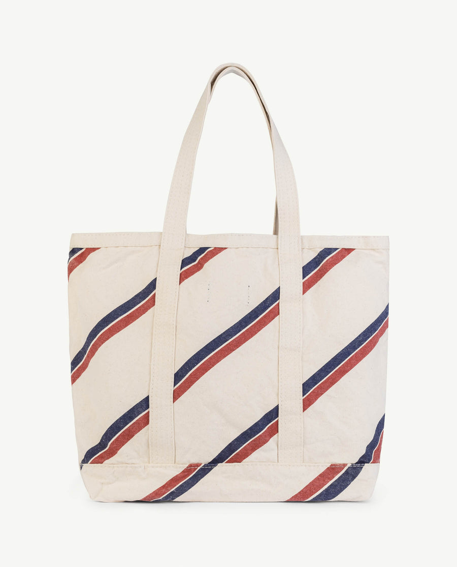 Straps Tote Onesize Bag Raw White Stripes Os