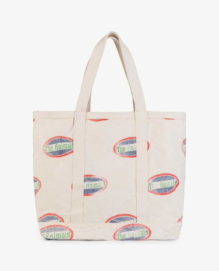 Straps Tote Onesize Bag Raw White Animals Os