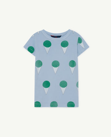 Hippo Kids T-Shirt Blue Icecream