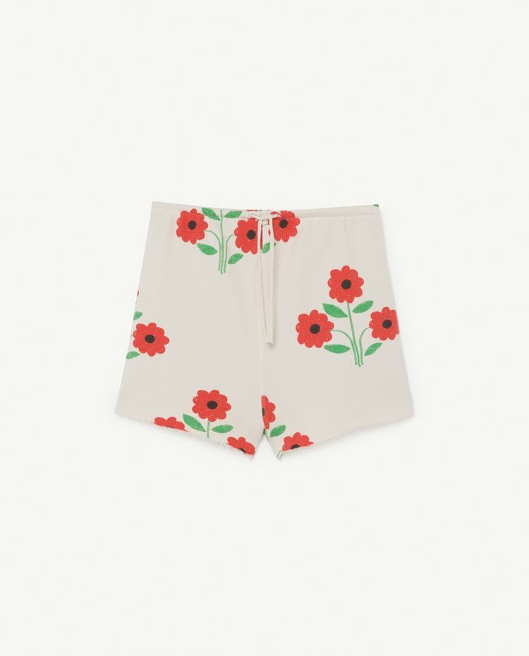 Hedgehog Kids Shorts White Flowers